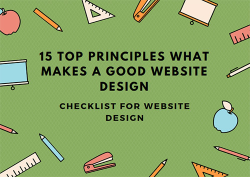 website checklist rules and principles
